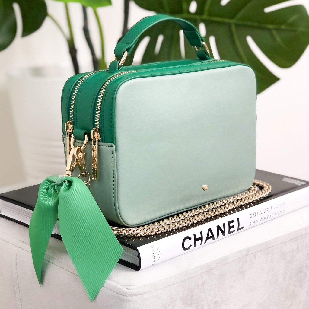GREEN-BAG-BLOCK-HUDSON-LUXE-GOLD-CHAIN-JOHNNY-LOVES-ROSIE-ACCESSORIES