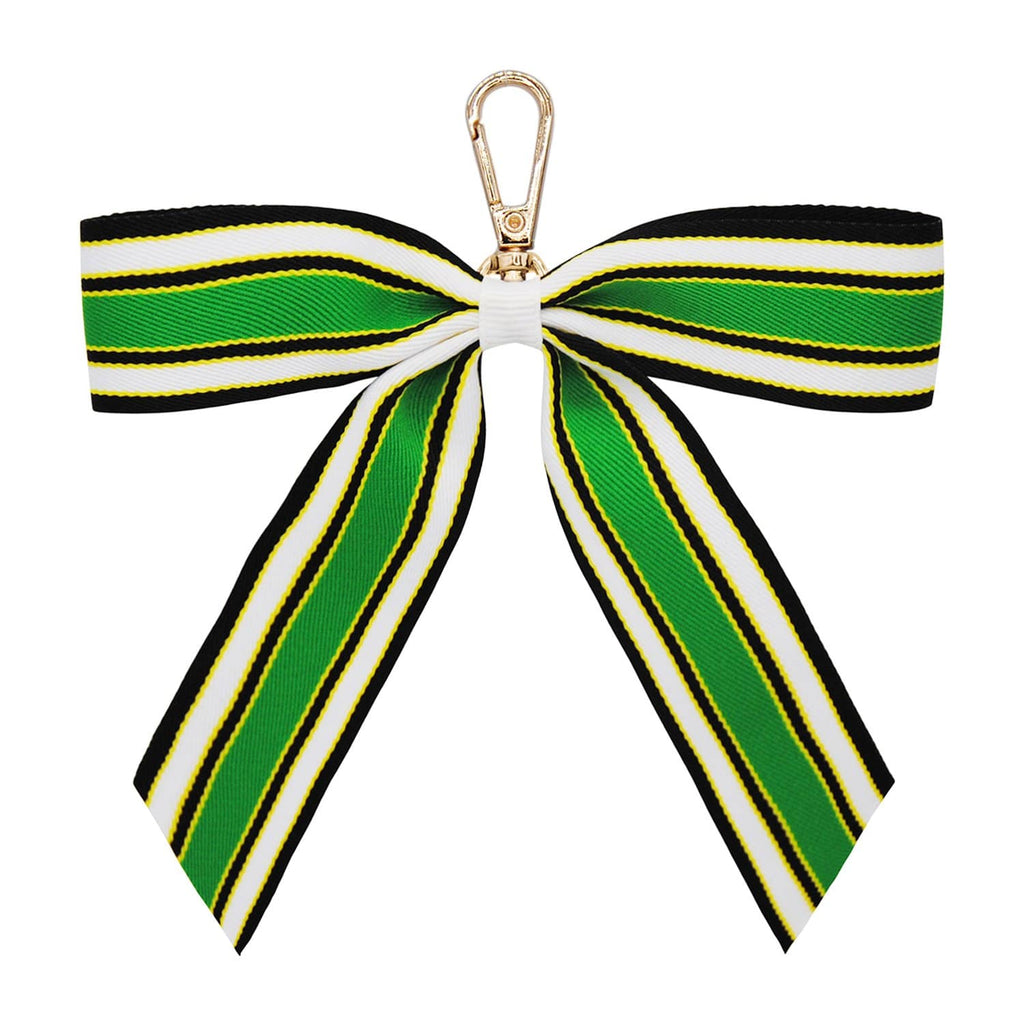 LEMON-GREEN-WHITE-BLACK-STRIPE-KEYRING-PERSONALISE-RIBBON-BOW-CASSIE-JOHNNY-LOVES-ROSIE