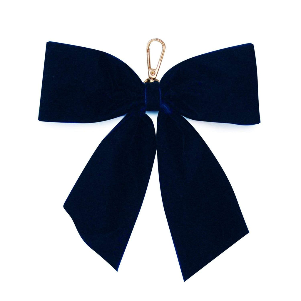NAVY-VELVET-PERSONALISED-BOW-KEYRING-JOHNNY-LOVES-ROSIE