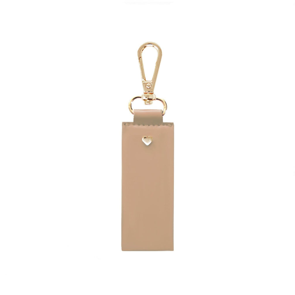 Fawn-Nude-Tan-keyring-soft-vegan-leather-straight-archie-johnny-loves-rosie-accessories