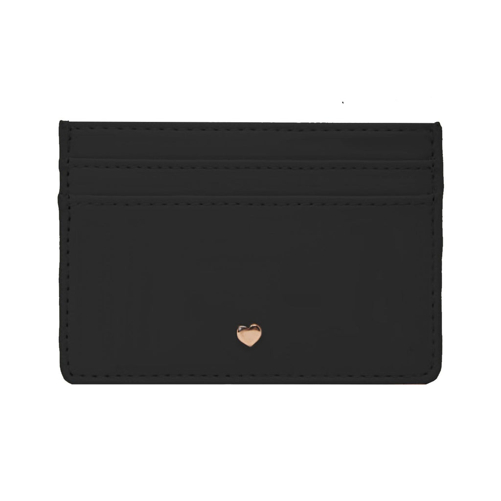 Black-Cardholder-Vegan-Leather-Soft-Heart-Purse-Personalise-Johnny-Loves-Rosie