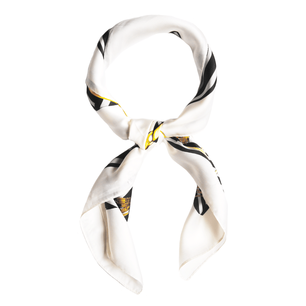 white-chin-print-scarf-multiuse-gold-cream-handbag-johnny-loves-rosie