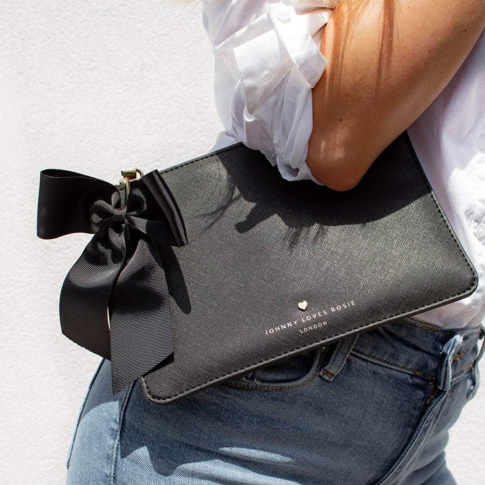 black-pouch-bag-bow-vegan-leather-blair-johnny-loves-rosie-accessories