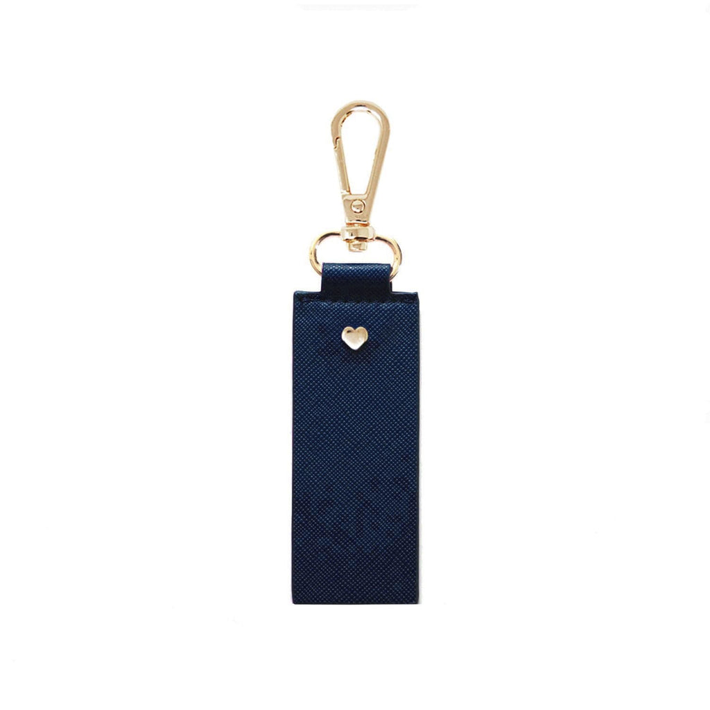 Navy-Vegan-Leather-Keyring-Archie-Johnny-Loves-Rosie