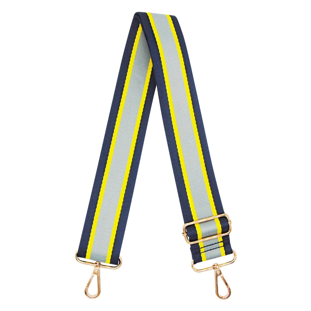NAVY-YELLOW-GREY-BAG-STRAP-ADJUSTABLE-CANVAS-WEB-JOHNNY-LOVES-ROSIE