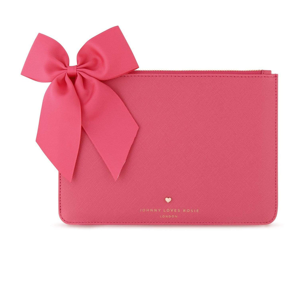 pink-clutch-pouch-bag-rectangle-bow-gold-johnny-loves-rosie-accessories