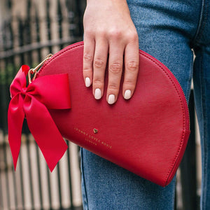 Red Megan Half Moon Pouch