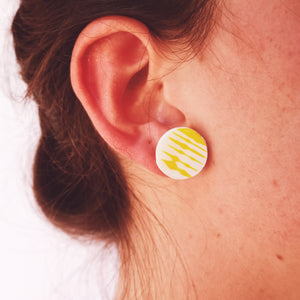 Pendientes yellow stripes