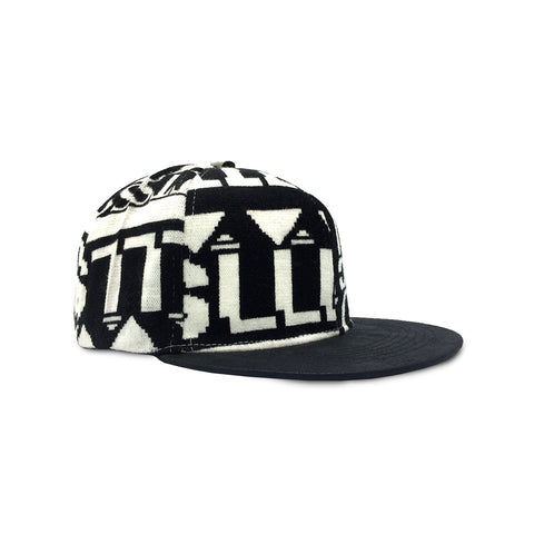 Alphabets Black/White Snapback