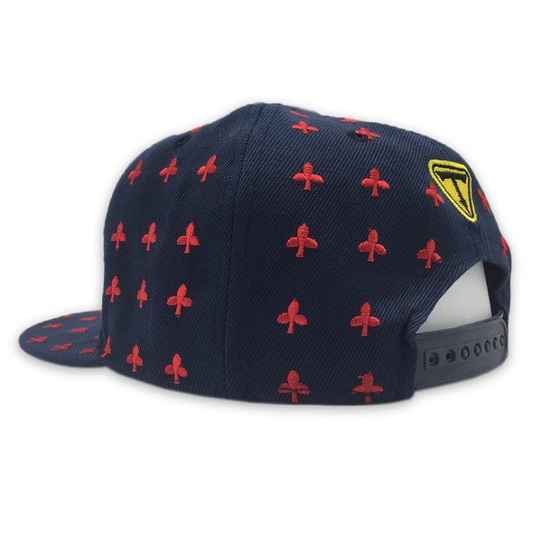 Clubs Navy Blue/Red Snapback