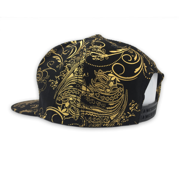 Black/Gold Abstract Snapback