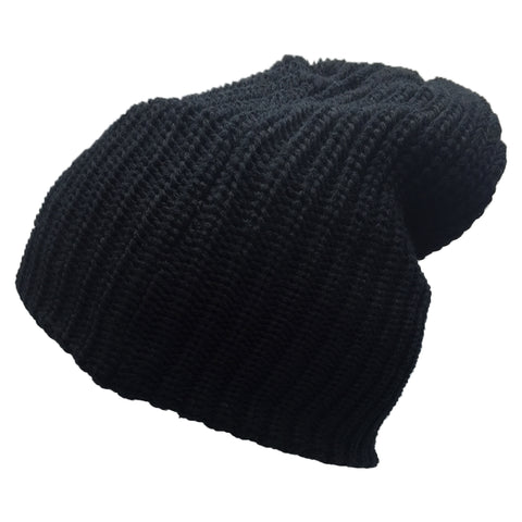 Moldable Black Stripe Beanie Cap