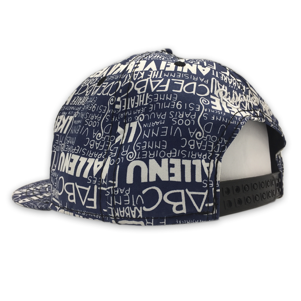 Comic Text Blue/White Snapback