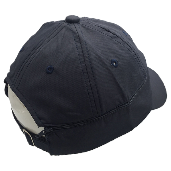 Grey / Zipped Baseball Cap
