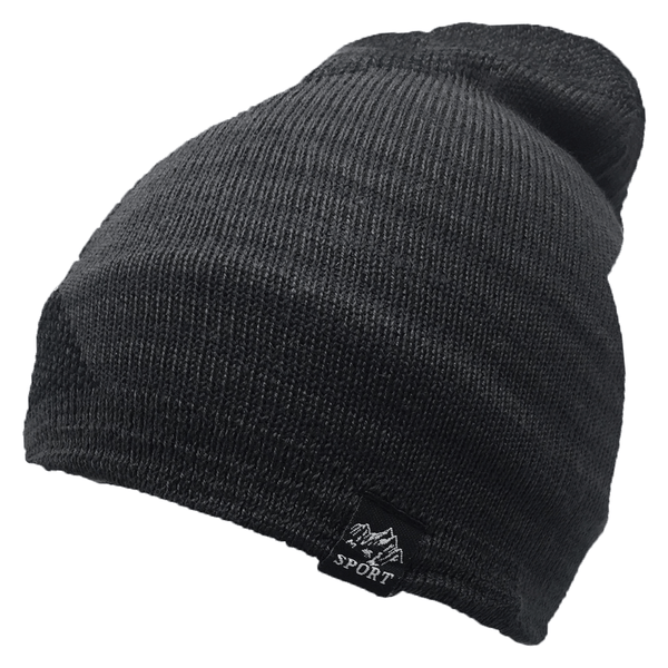 Black and Grey Beanie Cap