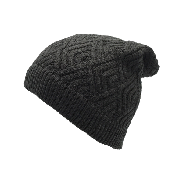 Grey Abstract Beanie Cap