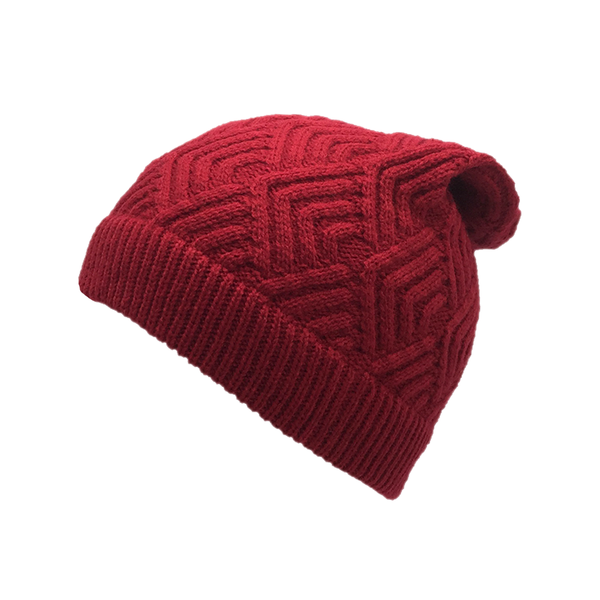 Red Abstract Beanie Cap