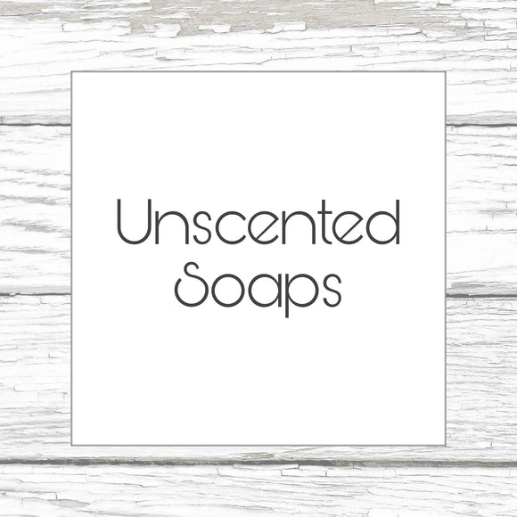 Unscented Soaps