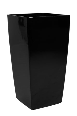 Tall Black Modern Planter