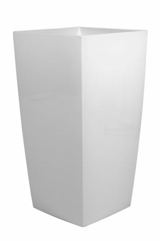 Tall White Modern Planter