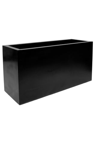 Large Black Rectangular Planter