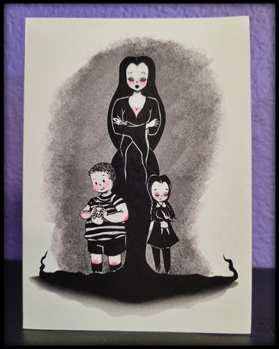 Motherly Morticia Notecard