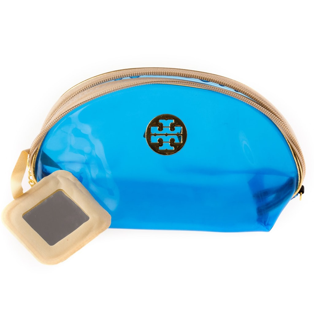Cosmetic Bag with Gold Buckle