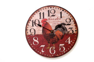Rooster Design Wall Clock