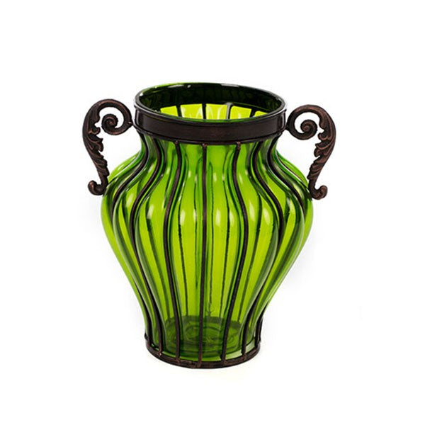 Greek Hydria Glass Vase