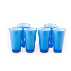 Colourful Glasss 350ml (Blue) (Set of 6)