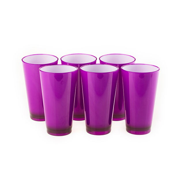 Colourful Glasss 350ml (Purple) (Set of 6)