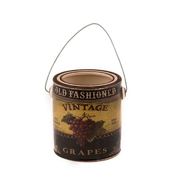 Country Style Ceramic Container - Grape Label