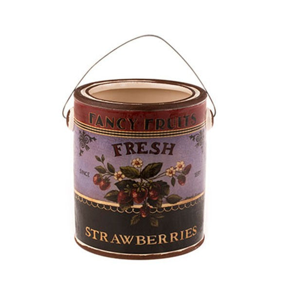 Country Style Ceramic Container - Strawberries Label