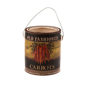Country Style Ceramic Container - Carrot Label