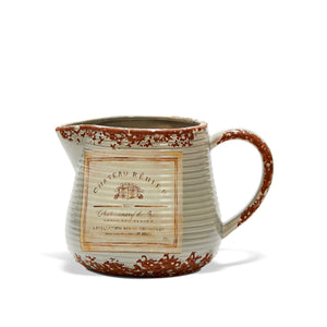 Country Style Ceramic Jug - Vintage Reiner Label