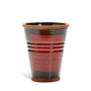 Country Style Ceramic Pot - Cabernet Sauvignon Label