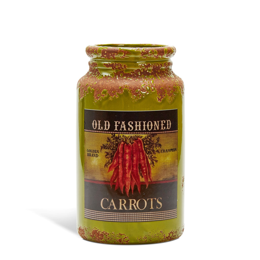 Country Style Ceramic Jar - Carrot Label