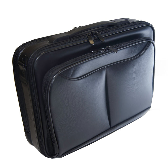 Black Leather Laptop Carry Bag