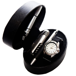 Men's Velcro Watch Gift Set