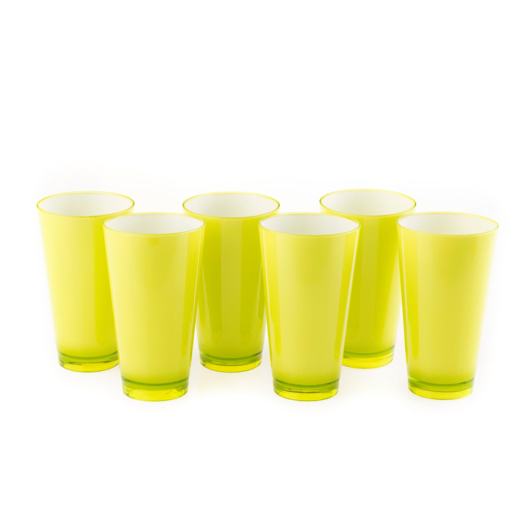 Colourful Glasss 350ml (Green) (Set of 6)