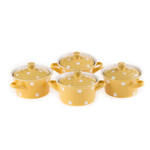 Polka Dot Soup Bowl (Yellow) (Set of 4)