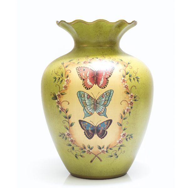 Ceramic Hand Painted Butterfly Vase