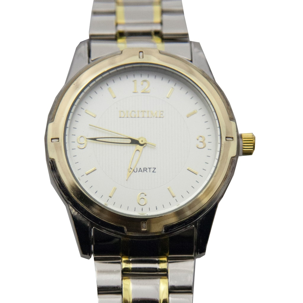 Two Tone Watch with Numbered Face
