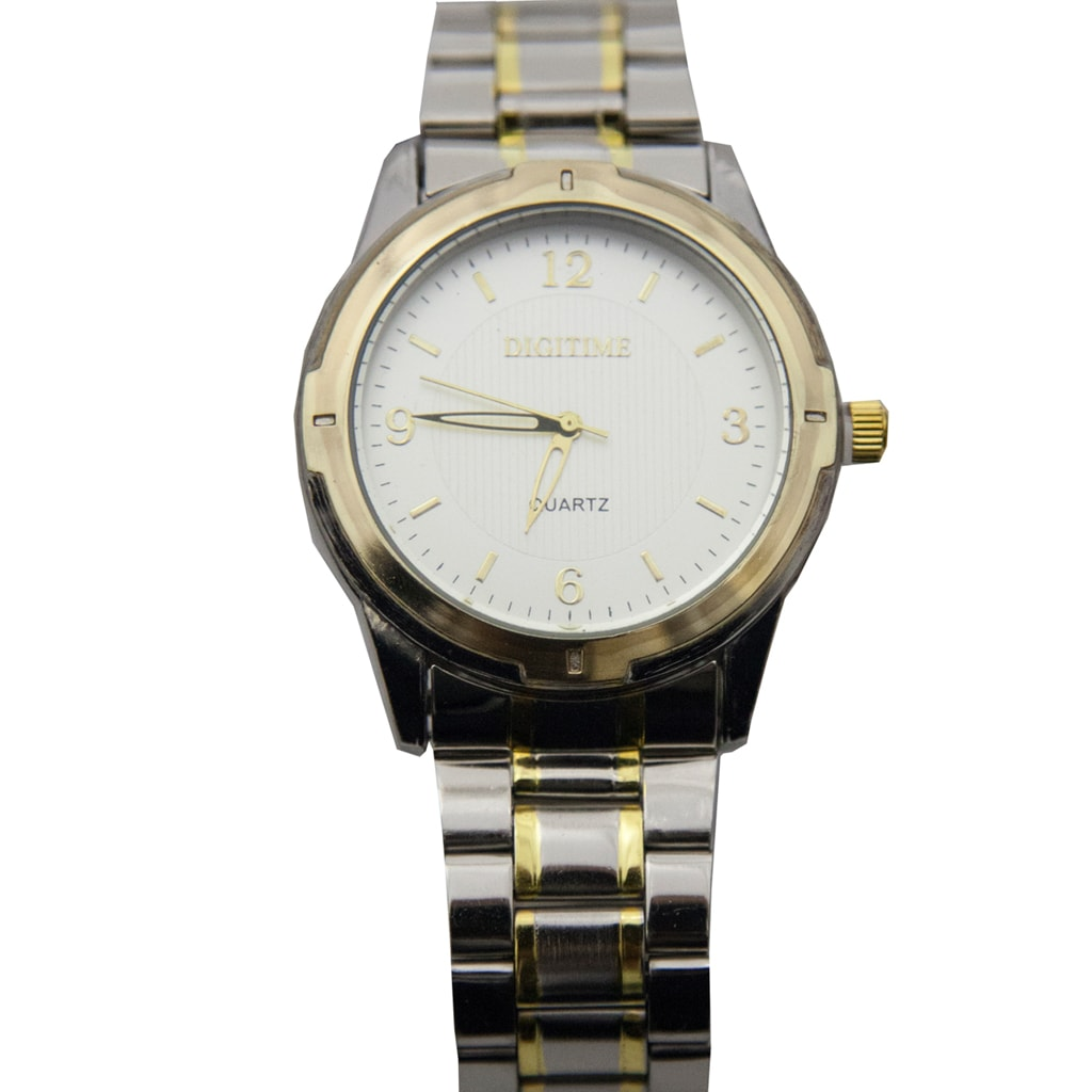 Two Tone Watch with Roman NumeralFace