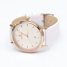 Load image into Gallery viewer, Gold Watch with White Strap