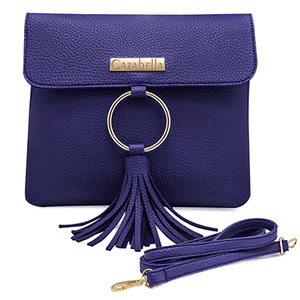 Navy Cross Body Handbag with Tassle