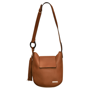 Tan Hobo Handbag with Tassel