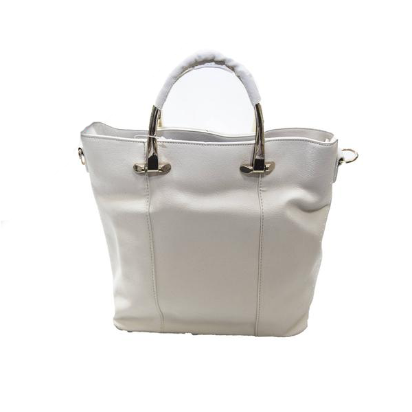 Handbag with Metal Handle & Shoulder Strap