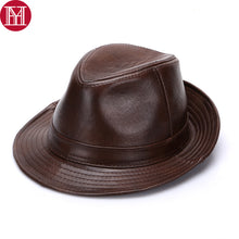 Load image into Gallery viewer, Men's Genuine Cowhide Leather Hats