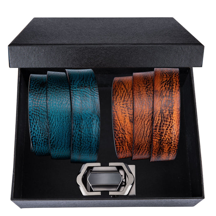 Men's Automatic Buckle Cow skin Leather Belt